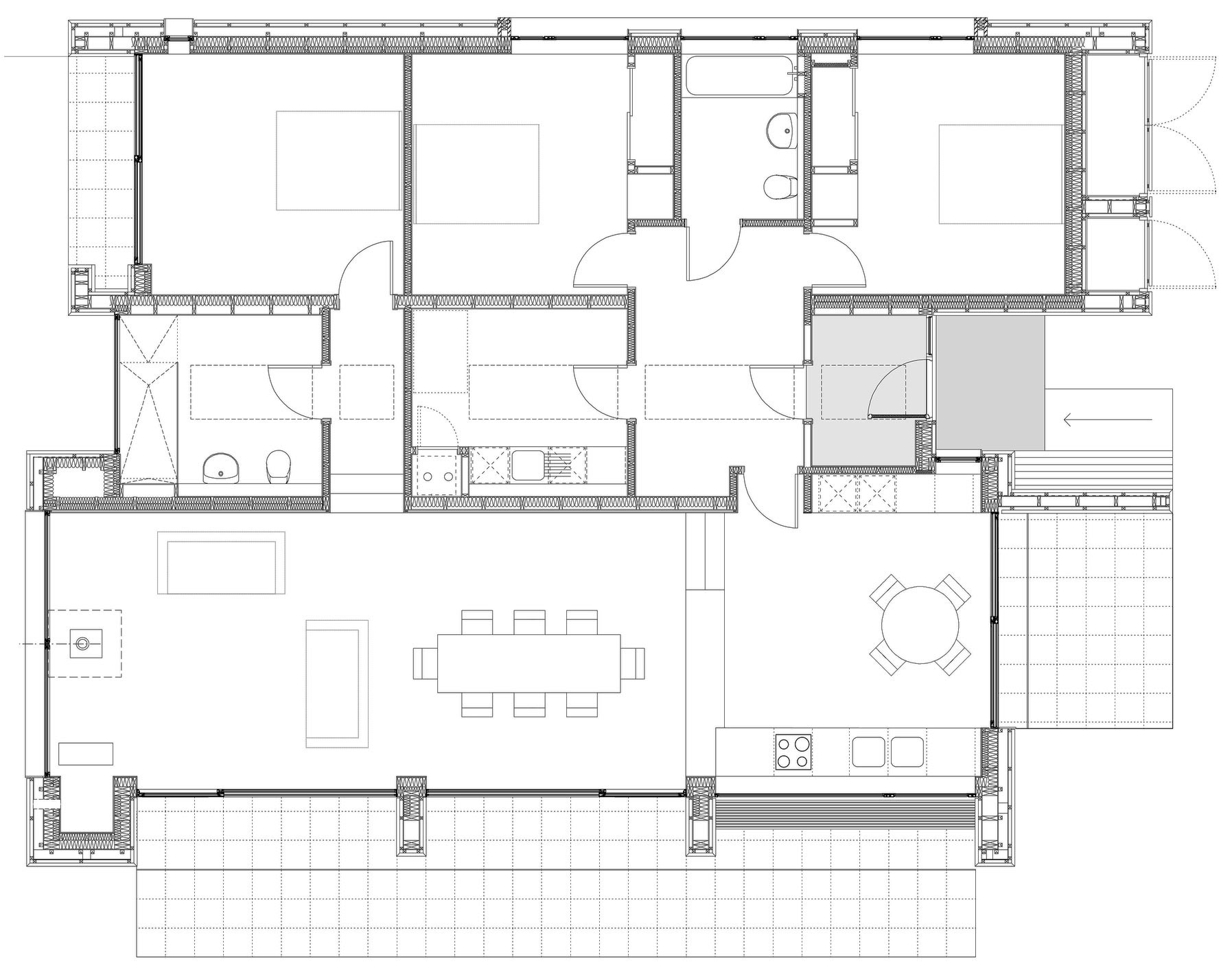 Ground Floor Plan, Contemporary Home on the Isle of Skye, Scotland