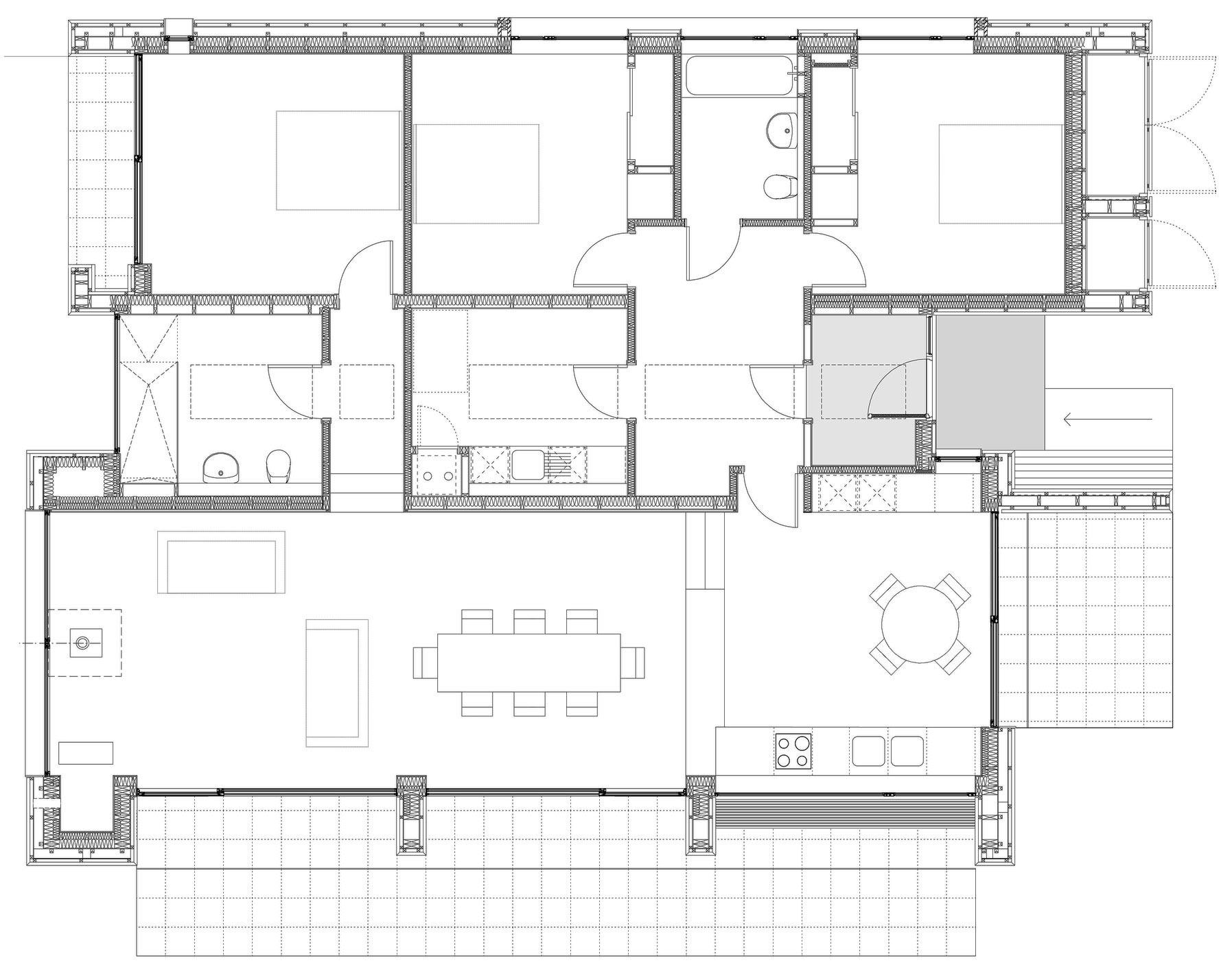 Ground Floor Plan, Contemporary Home on the Isle of Skye, Scotland