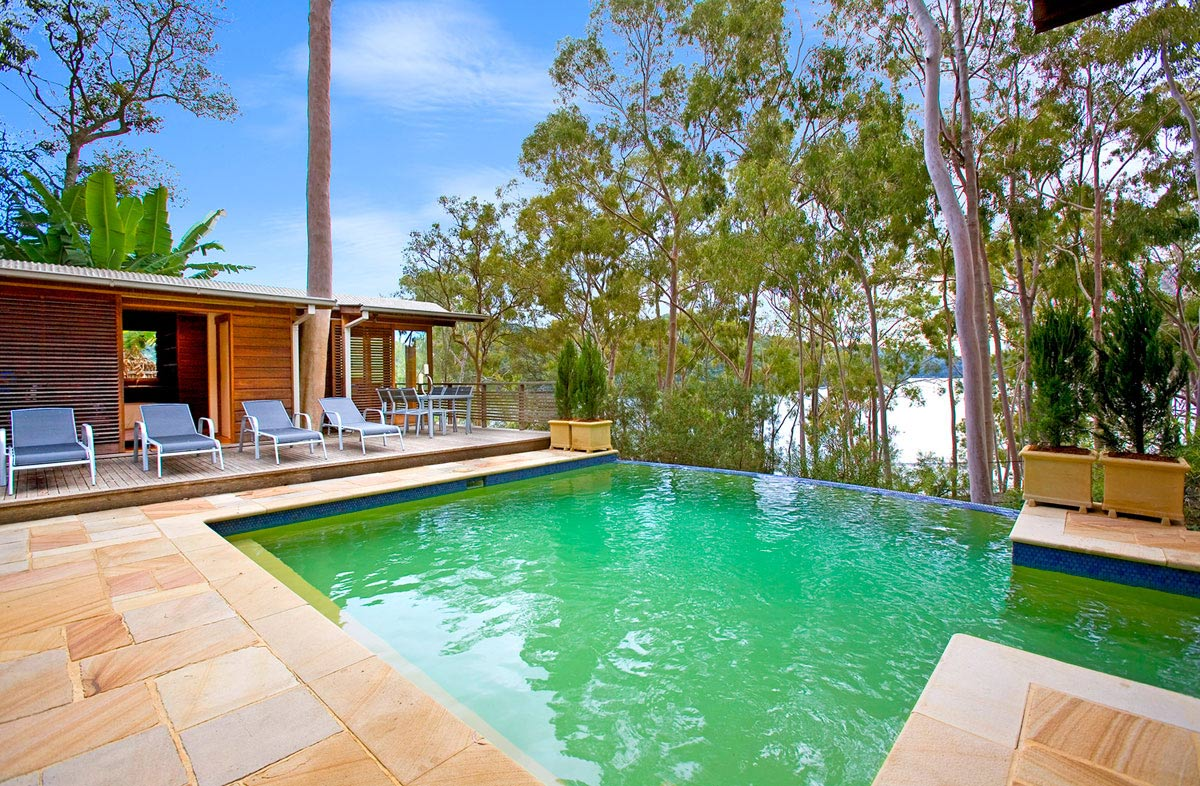 Infinity Pool, Terrace, Treetops Holiday Home in Sydney, Australia