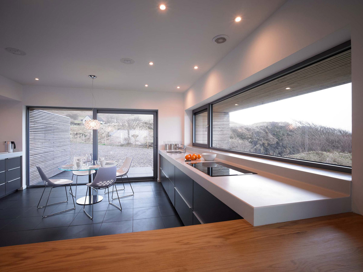 Kitchen, Breakfast Table, Contemporary Home on the Isle of Skye, Scotland