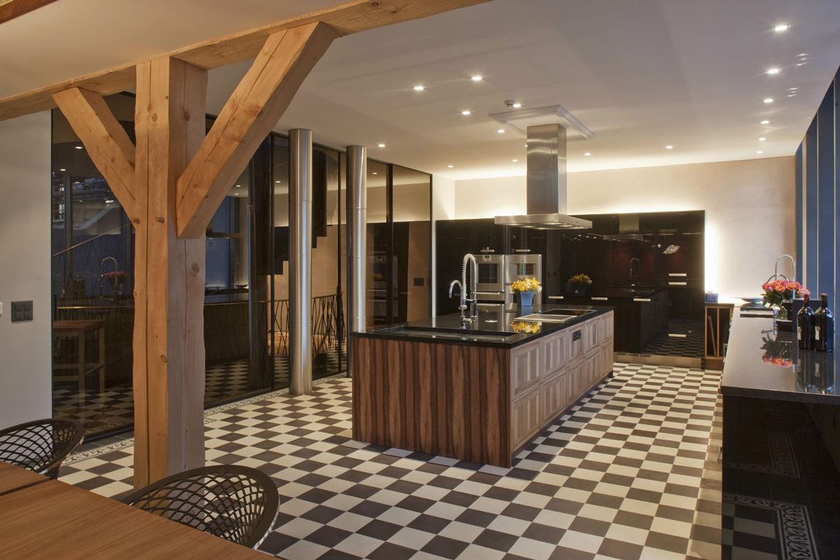 Kitchen, Farmhouse Conversion in Genf, Switzerland