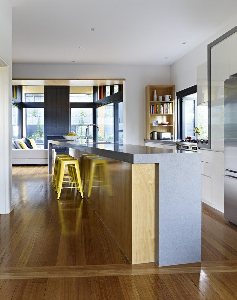 Kitchen Island, Modern Renovation & Extension in Melbourne, Australia