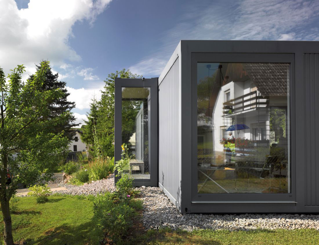 Large Window, Container House in Kall, Germany