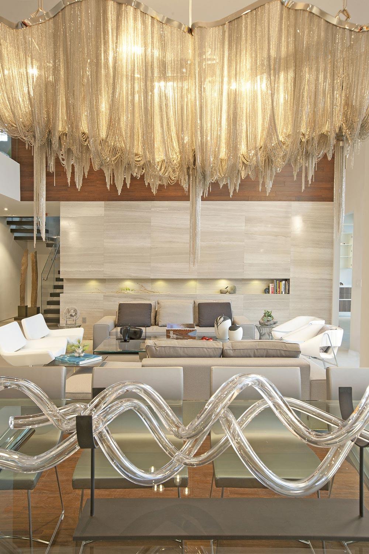 Lighting, Art, Living Space, Stylish Interior Design in Miami, Florida