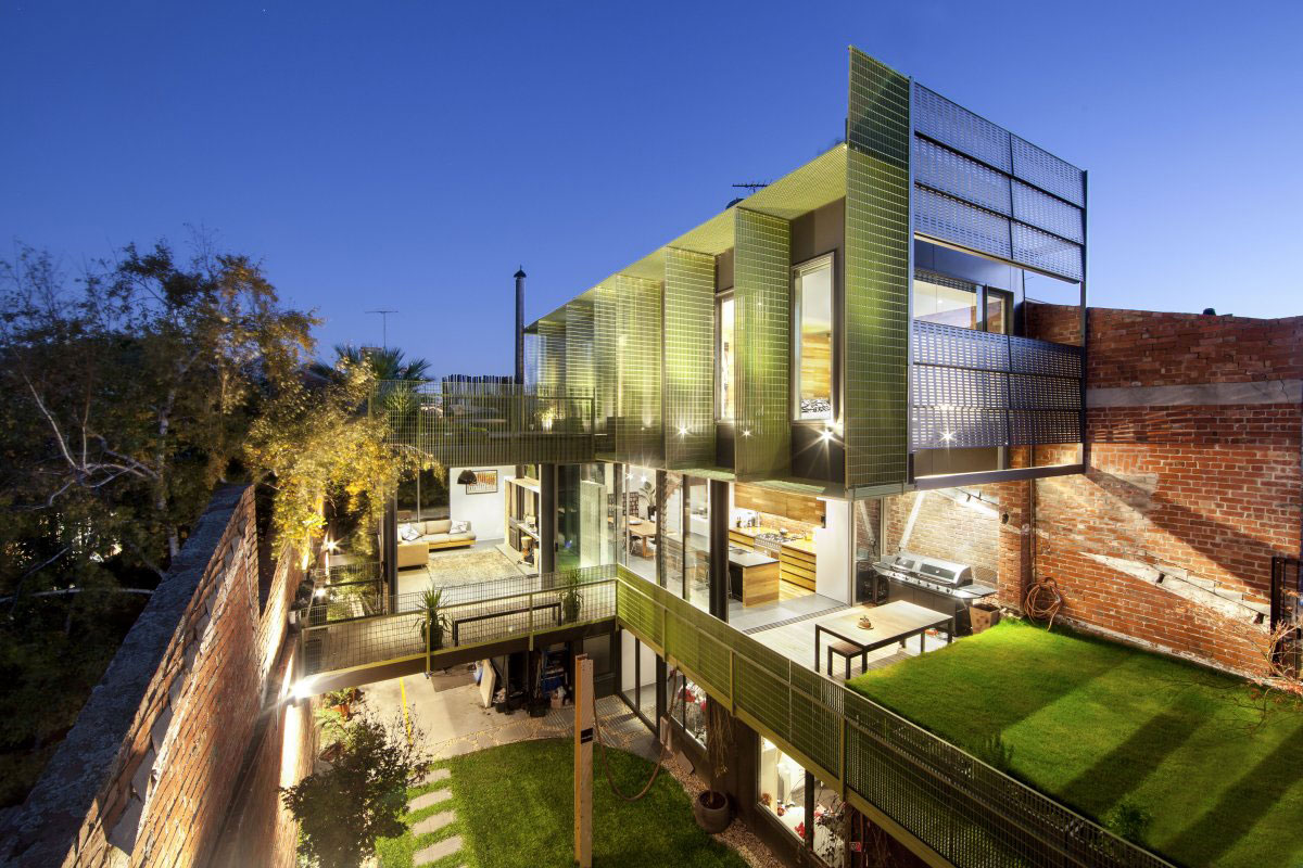 Evening, Lighting, Terraces, Warehouse Conversion in Fitzroy North, Australia