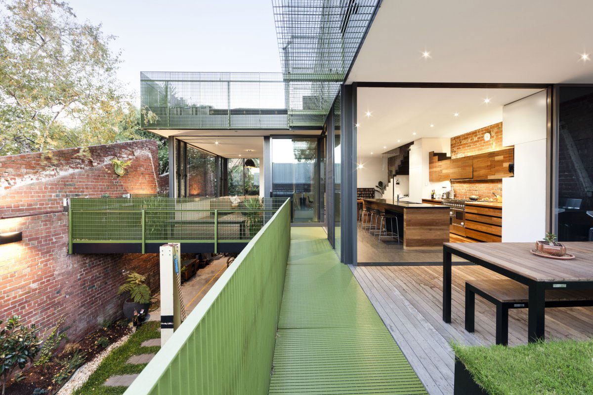 Metal Balustrading, Outdoor Living Area, Warehouse Conversion in Fitzroy North, Australia