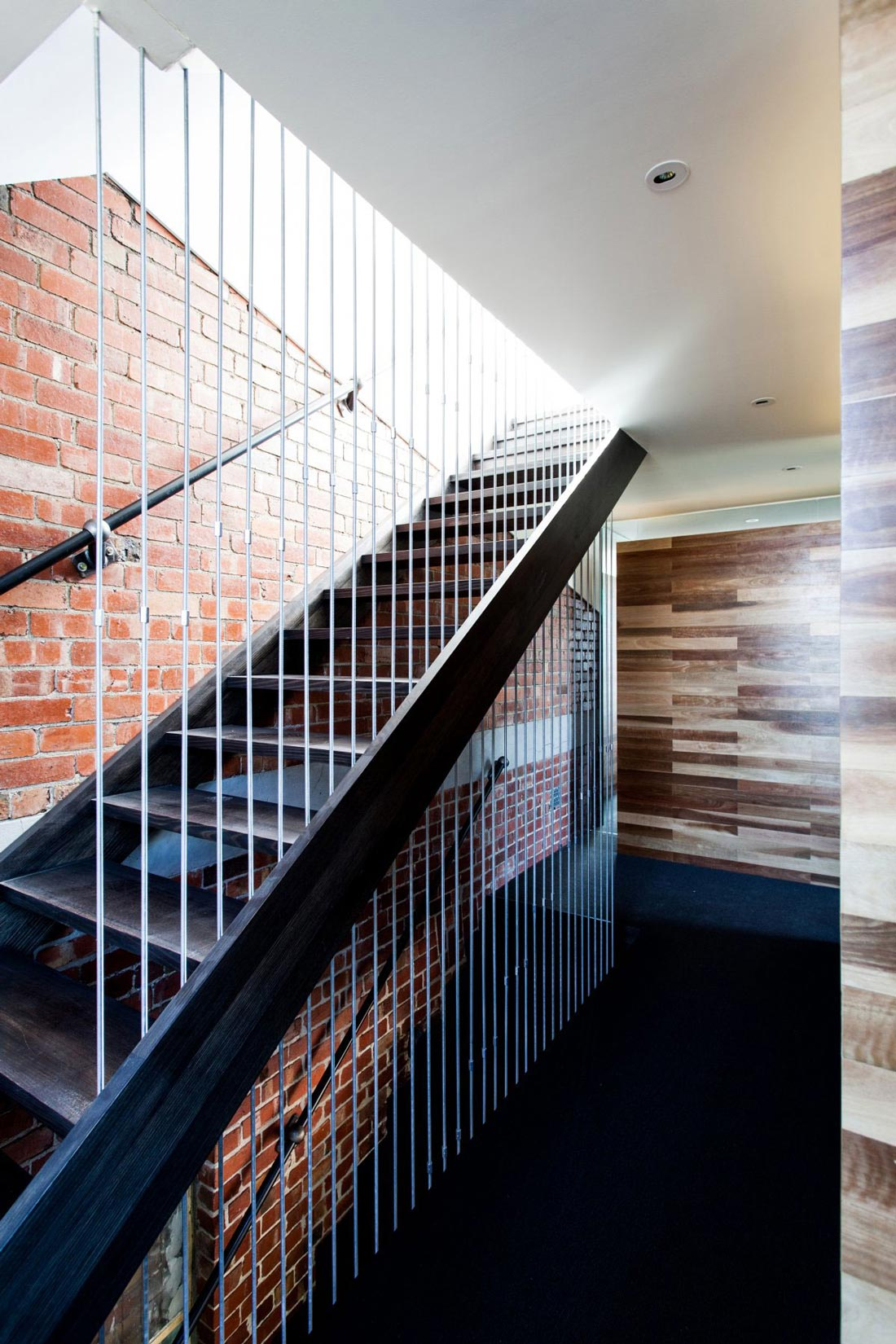 Modern Stairs, Exposed Brick Wall, Warehouse Conversion in Fitzroy North, Australia