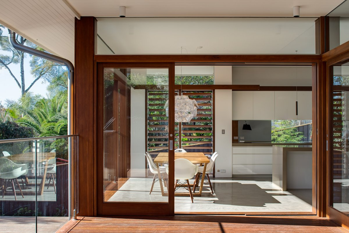 Patio Doors, Glass Balustrading, Contemporary Home in Sydney Australia