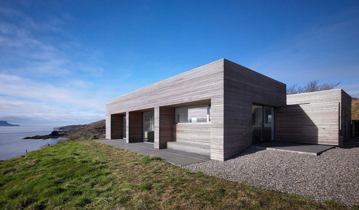 Side Facade, Contemporary Home on the Isle of Skye, Scotland