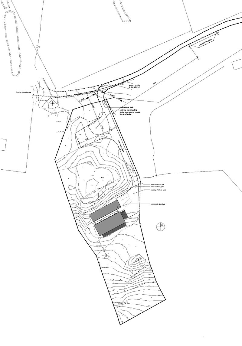 Site Plan, Contemporary Home on the Isle of Skye, Scotland