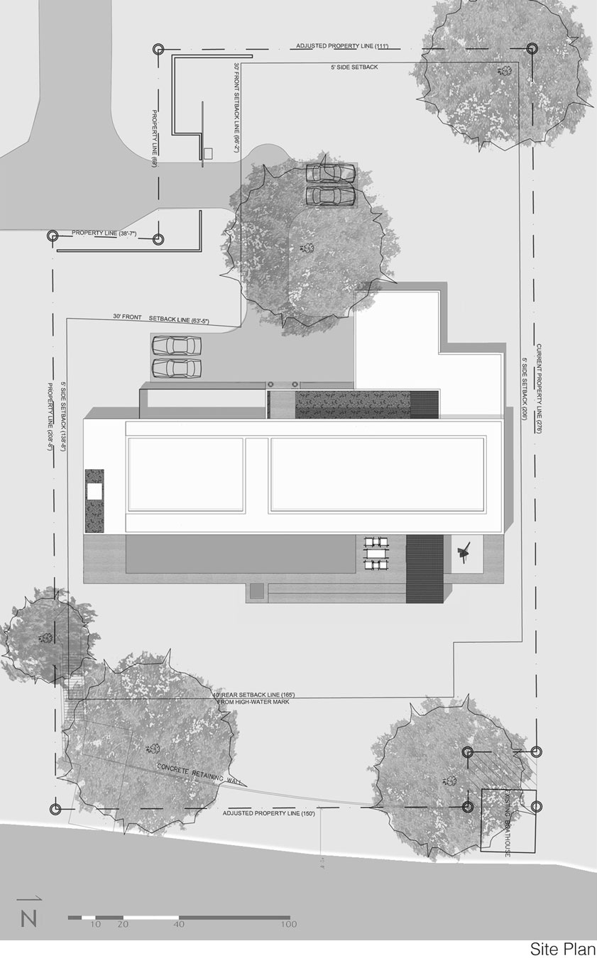 Site Plan, Eco-Friendly Contemporary Home in Winter Haven, Florida