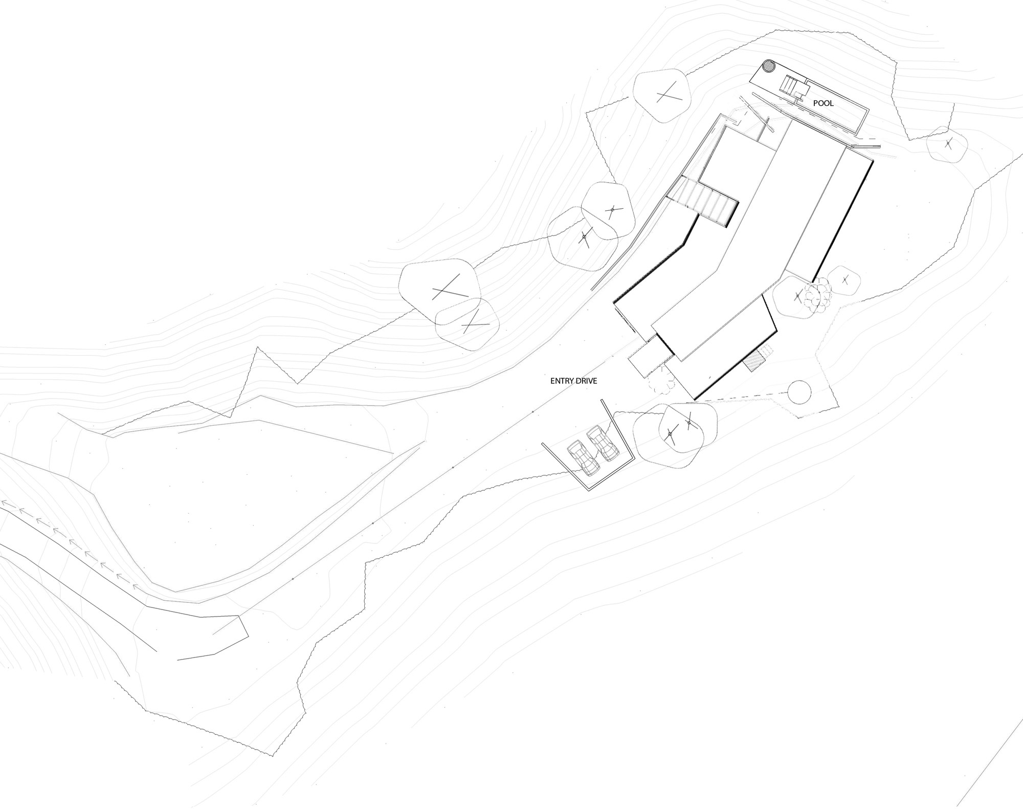 Site Plan, Hilltop Home with Stunning Views in Ngunguru, New Zealand