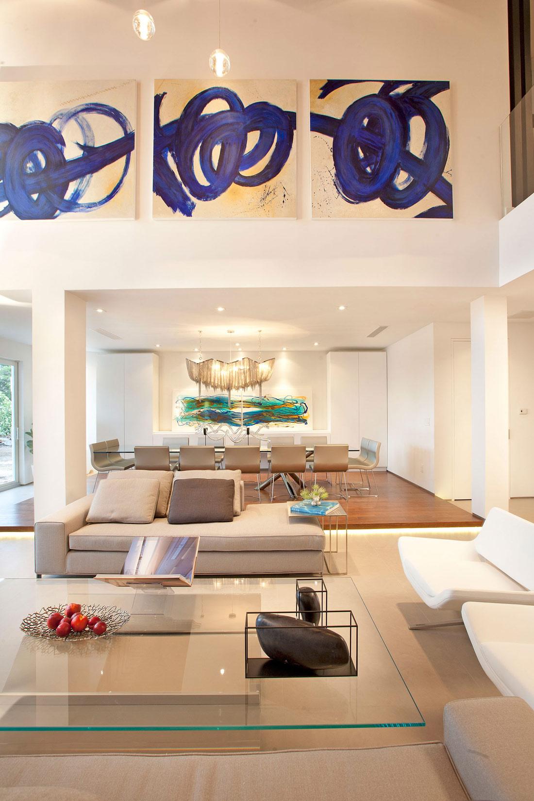 Sofa, Coffee Table, Living Space, Stylish Interior Design in Miami, Florida