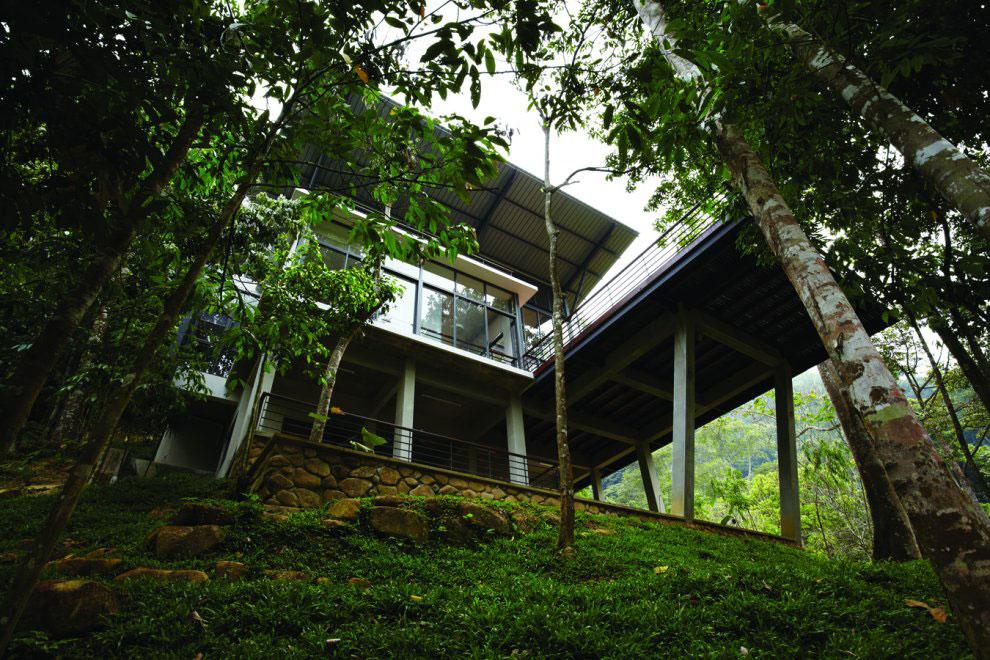 Terrace, Balcony, Modern Hillside Home in Janda Baik, Malaysia