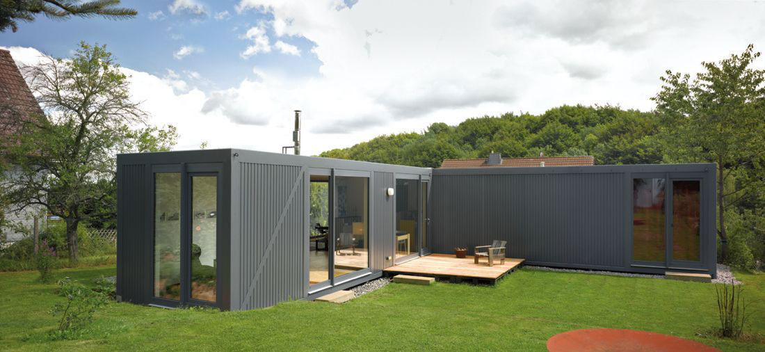 Terrace, Container House in Kall, Germany
