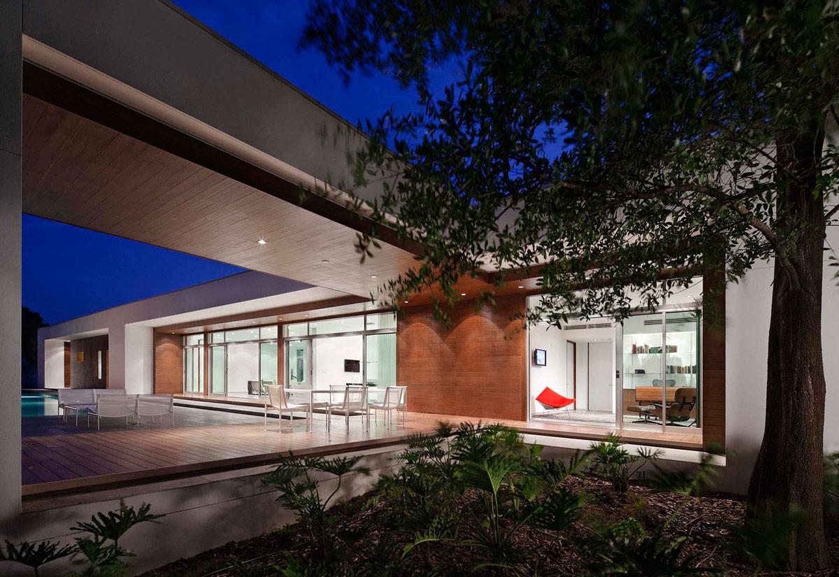 Terrace, Eco-Friendly Contemporary Home in Winter Haven, Florida