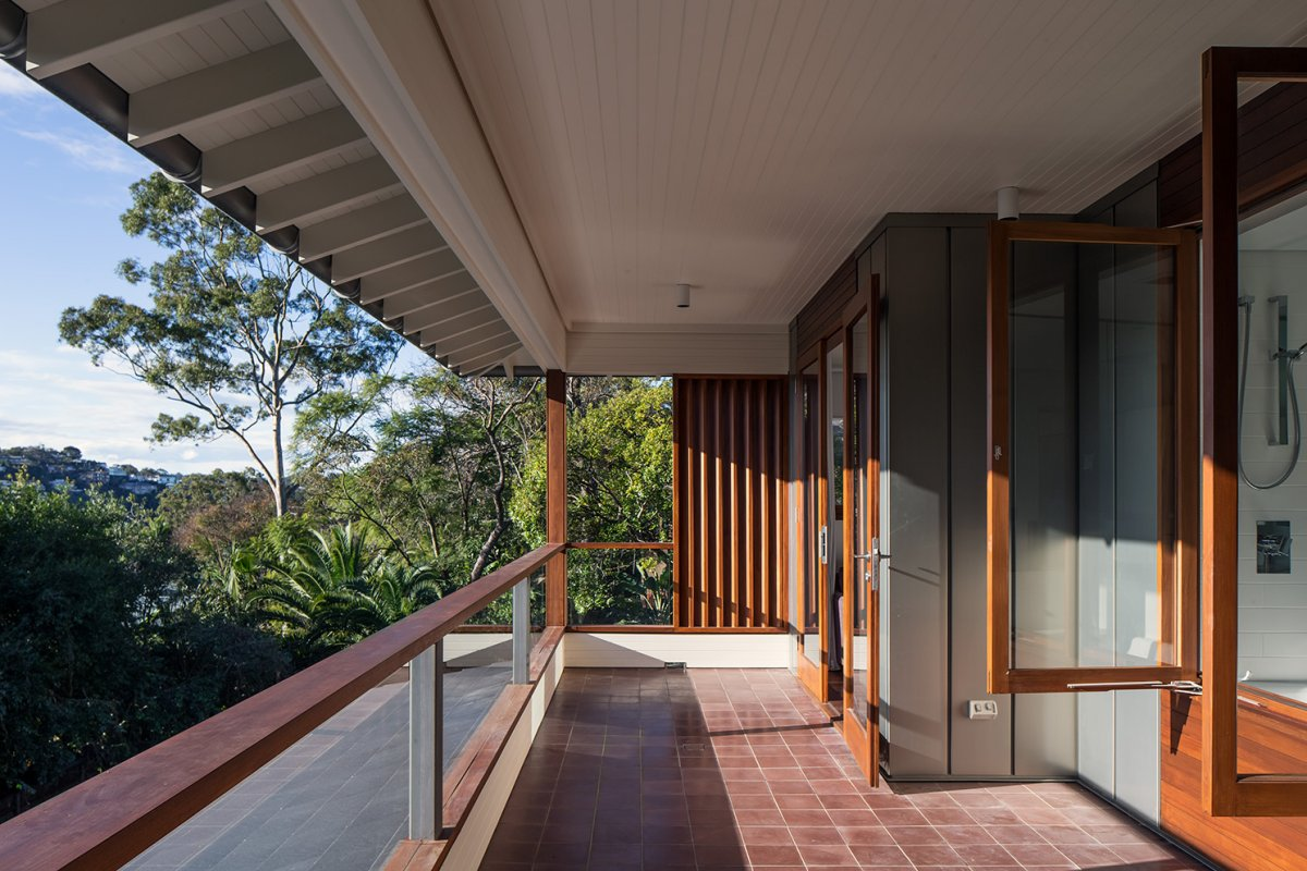 Tiled Balcony, Contemporary Home in Sydney Australia