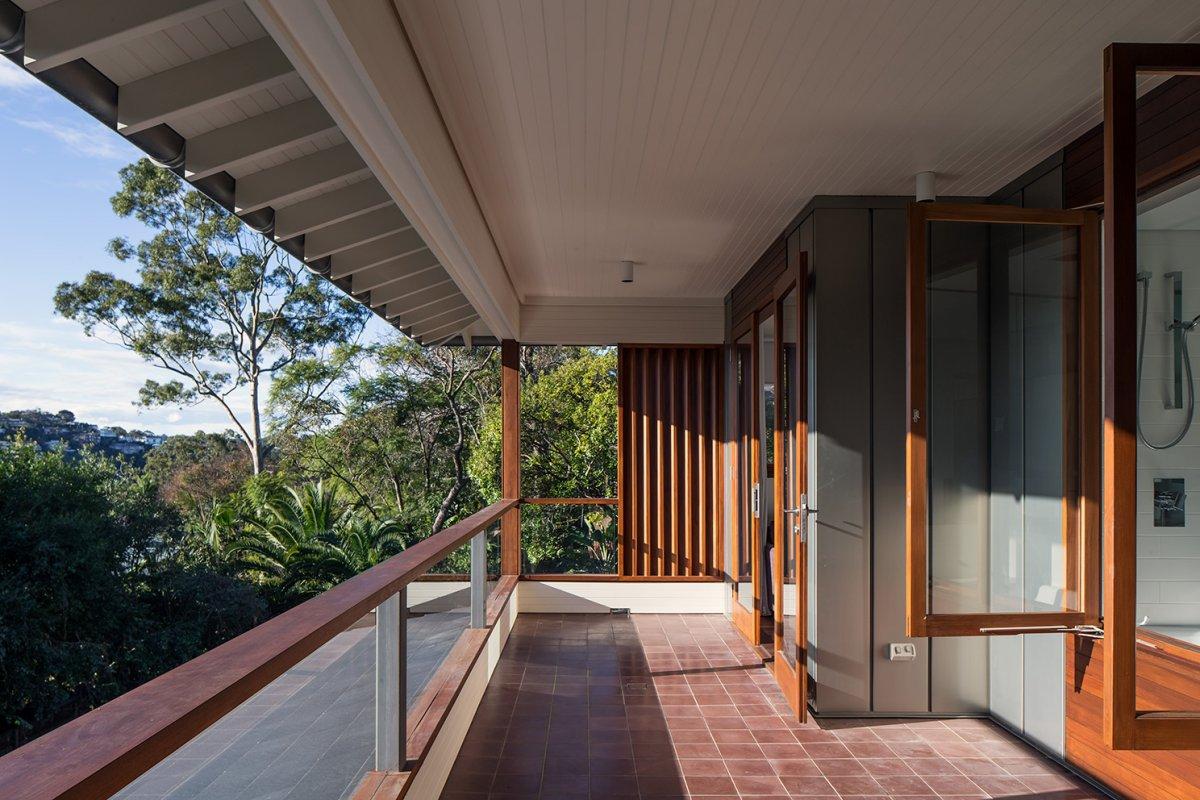 Tiled Balcony, Contemporary Home in Sydney Australia