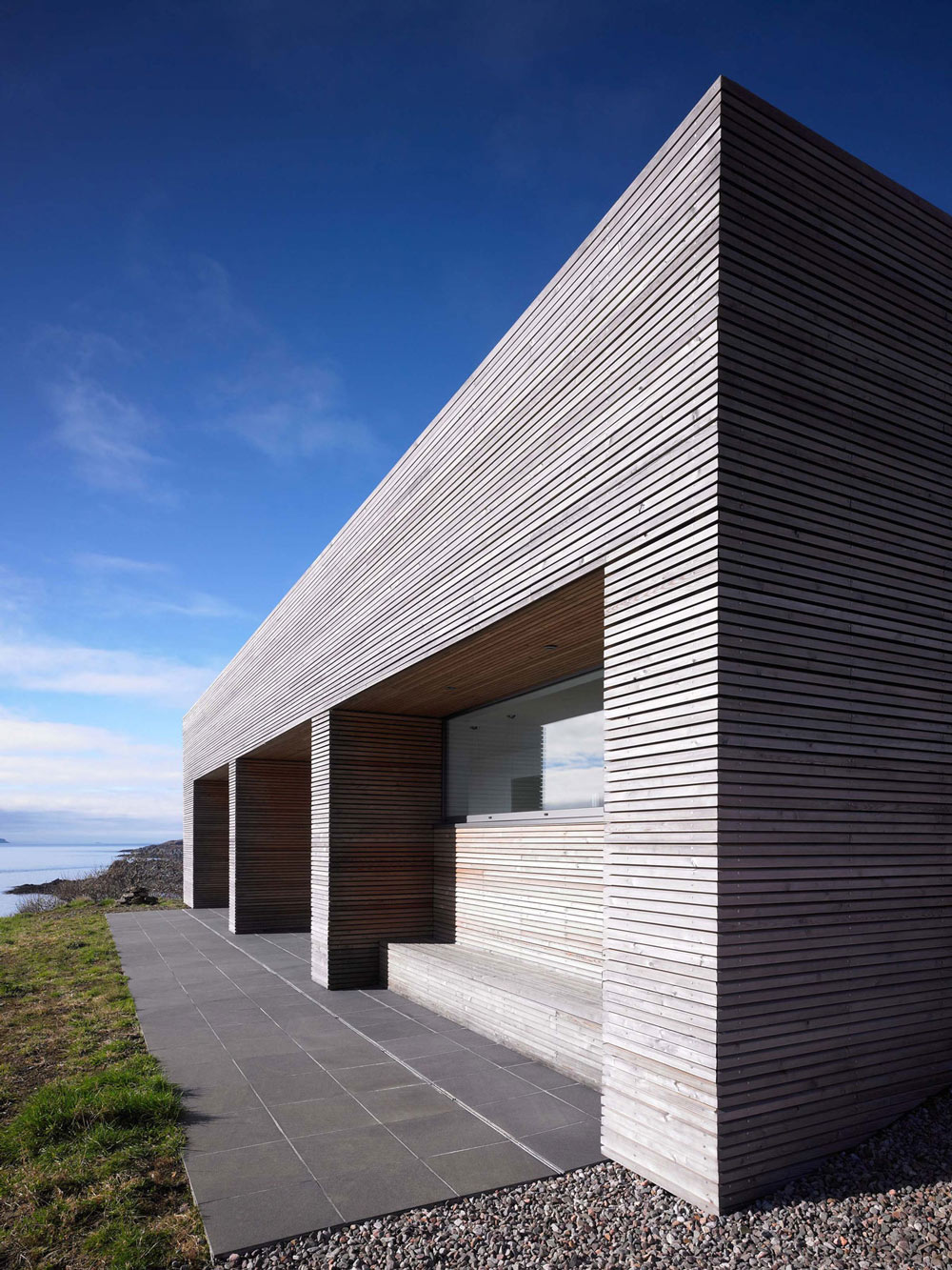 Tiled Terrace, Side Facade, Contemporary Home on the Isle of Skye, Scotland