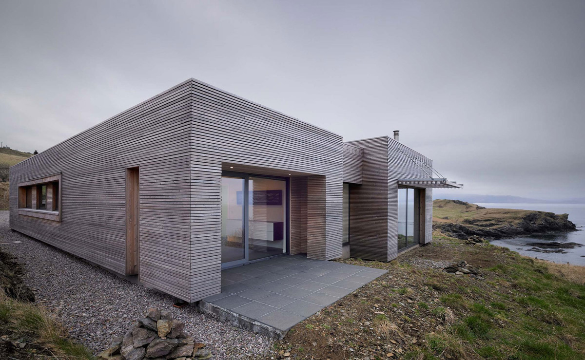 Wood Panelling, Contemporary Home on the Isle of Skye, Scotland