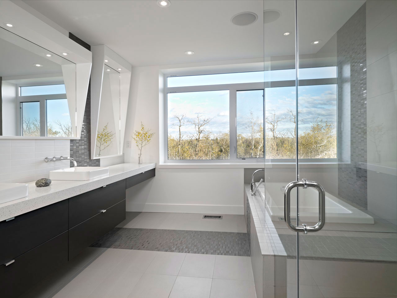 Bathroom, Contemporary Home in Edmonton, Canada