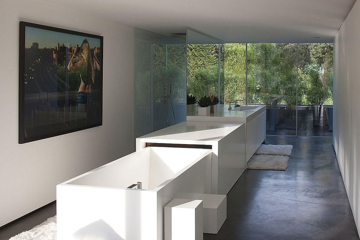 Modern Bathroom, Sophisticated Glass Home in Belgium
