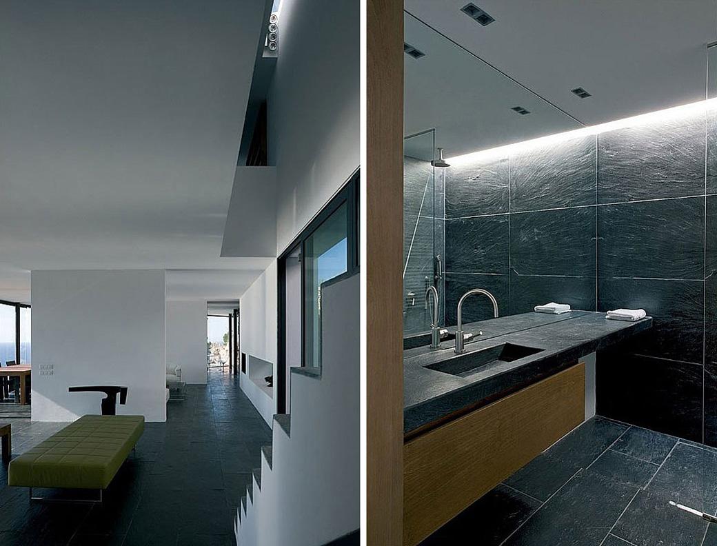 Stairs, Bathroom, Stunning Clifftop Home in Ibiza, Spain