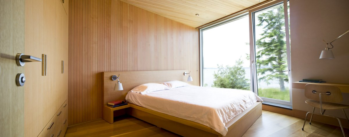 Bedroom, Oceanfront Home in British Columbia, Canada