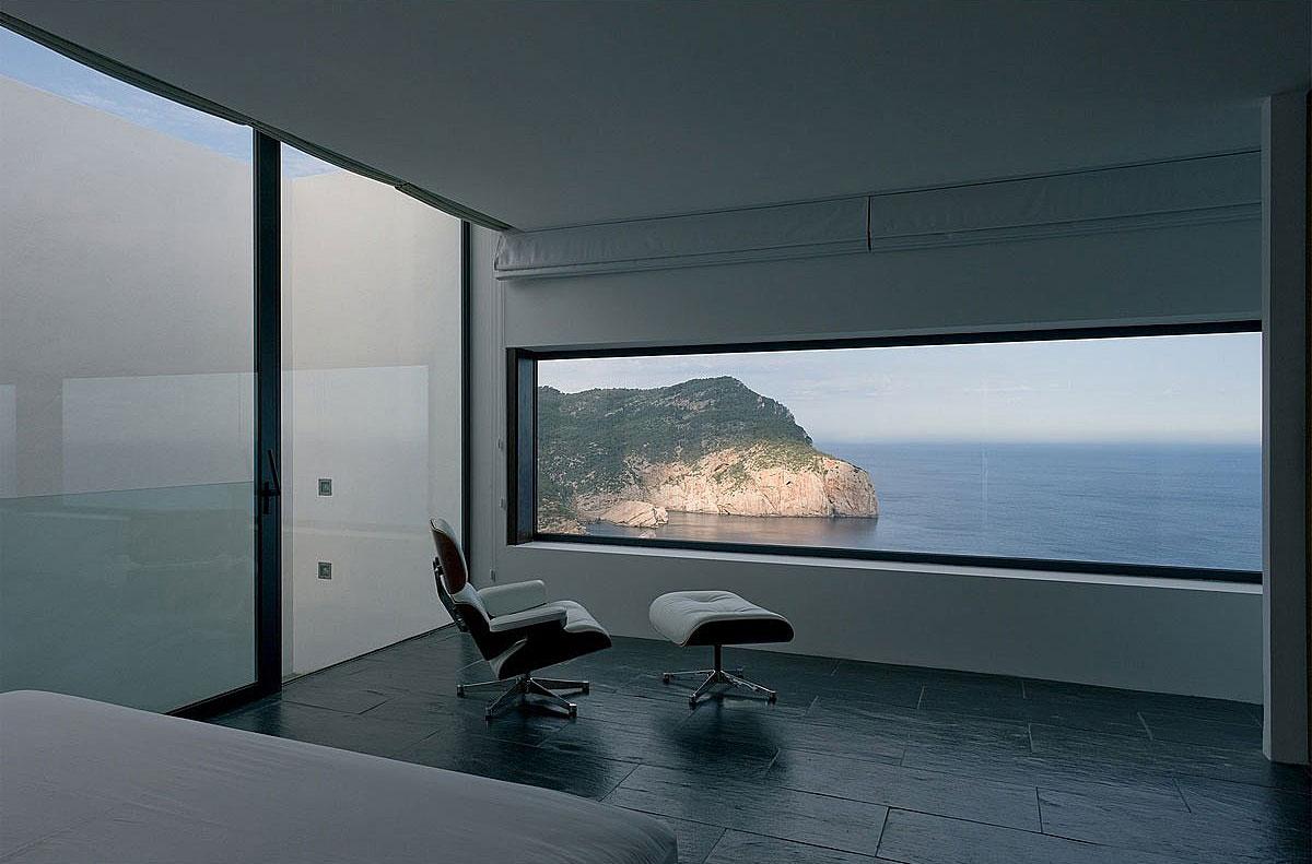 Bedroom, Views, Stunning Clifftop Home in Ibiza, Spain