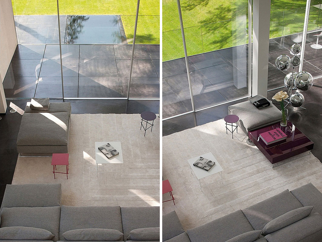 Coffee Table, Sophisticated Glass Home in Belgium