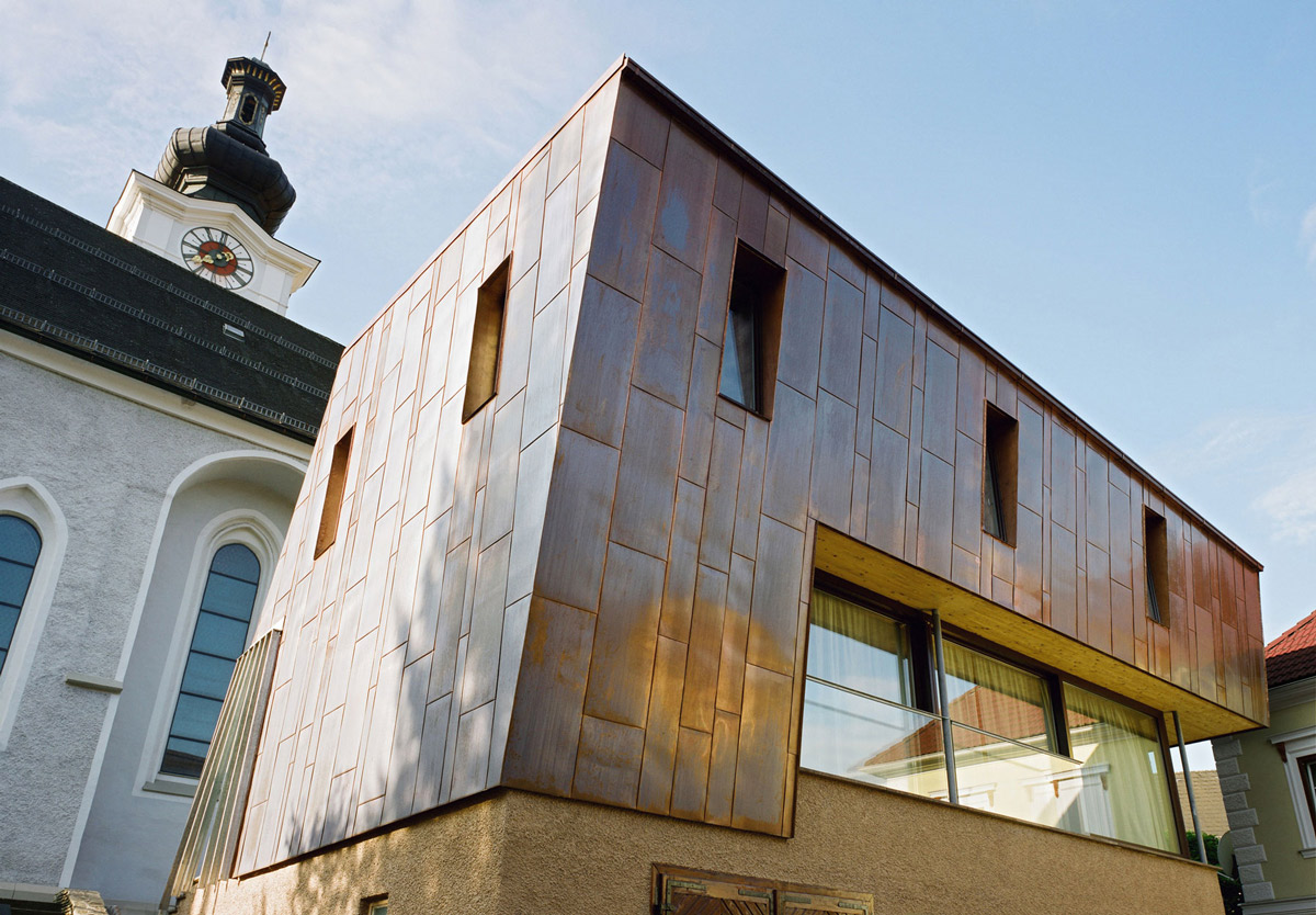 Copper Sheets, Apartment House in Ybbsitz, Austria