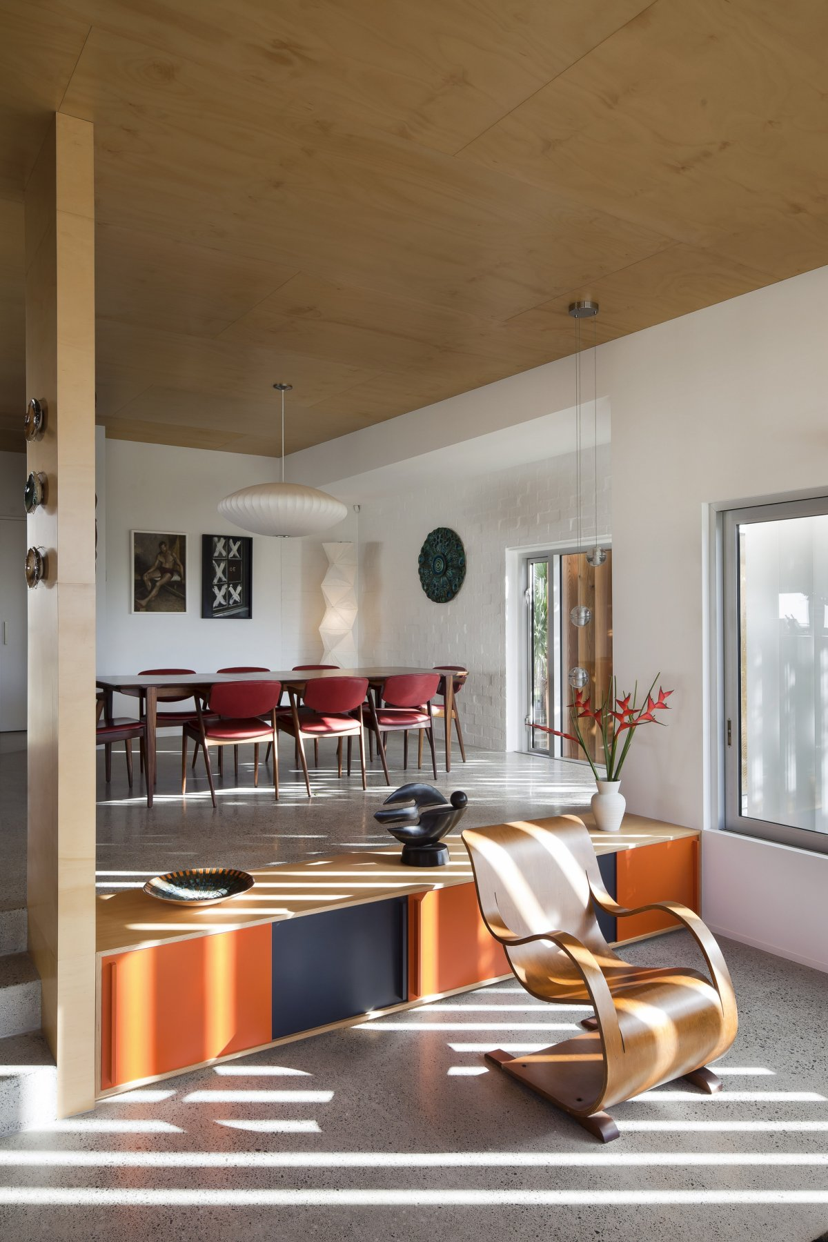 Dining Table, 1950-60s Inspired Home in Auckland, New Zealand