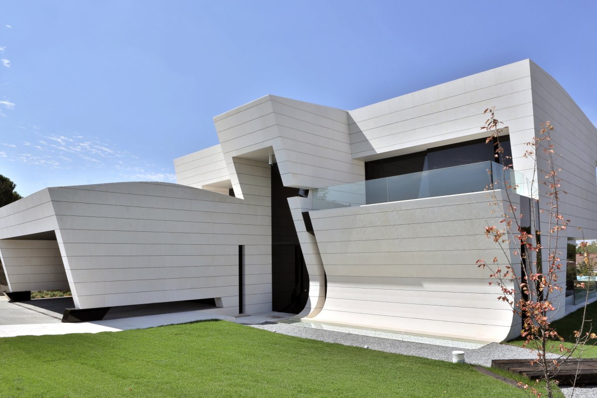 Entrance, Futuristic Home in Madrid, Spain