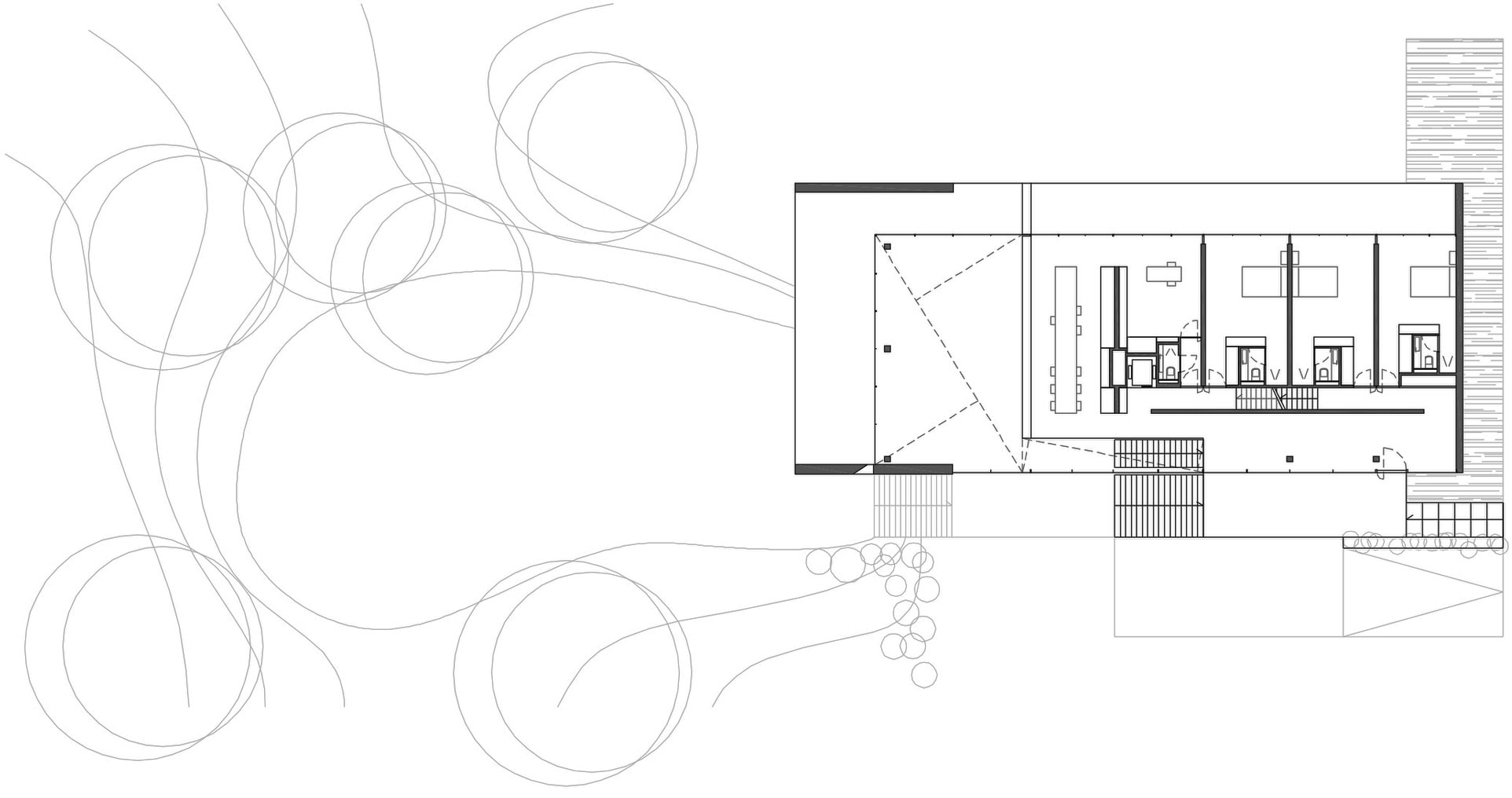 First Floor Plan, Sophisticated Glass Home in Belgium