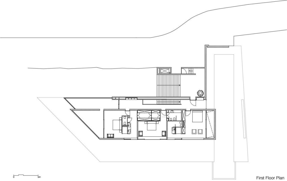 First Floor Plan, Stunning Clifftop Home in Ibiza, Spain