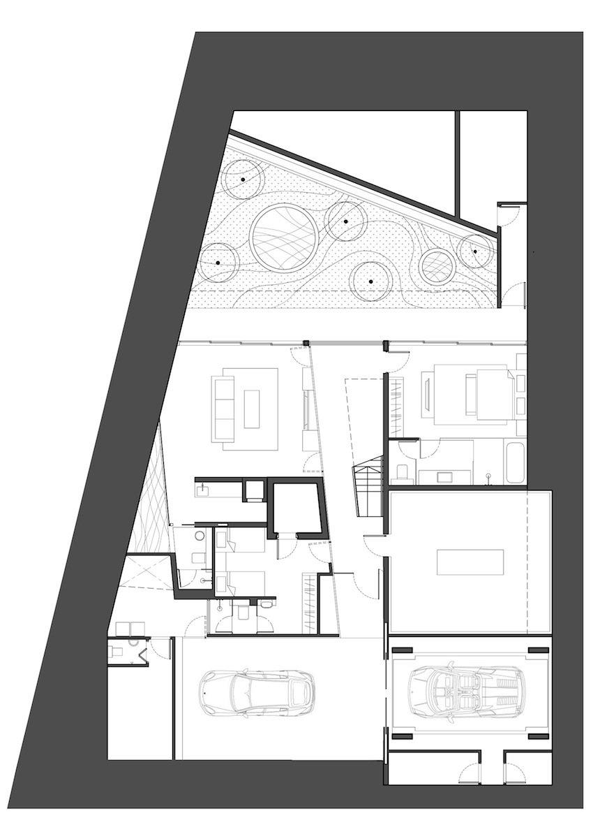 Floor Plan, Lakeside Family Home in Singapore