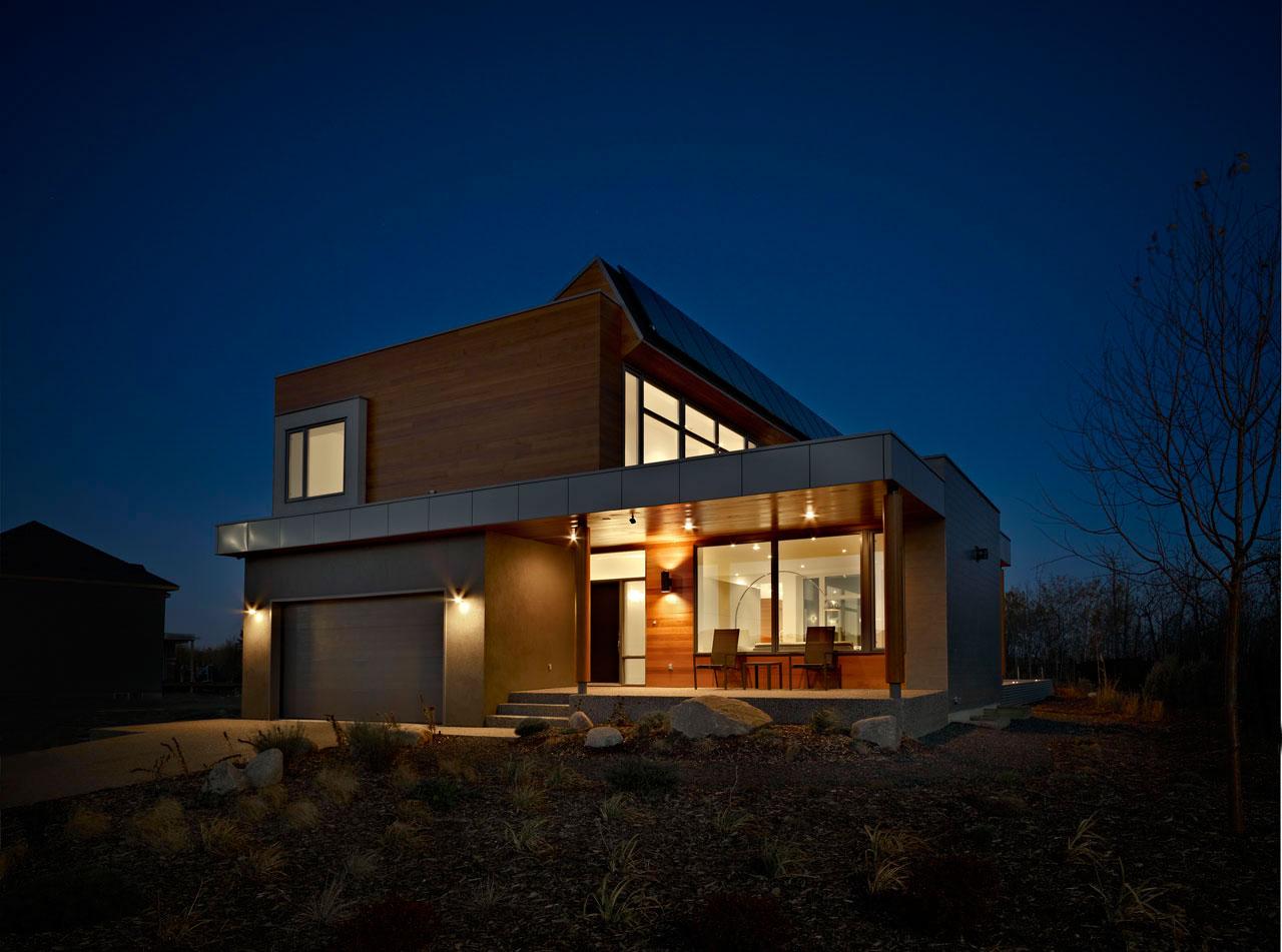 Garage, Entrance, Contemporary Home in Edmonton, Canada