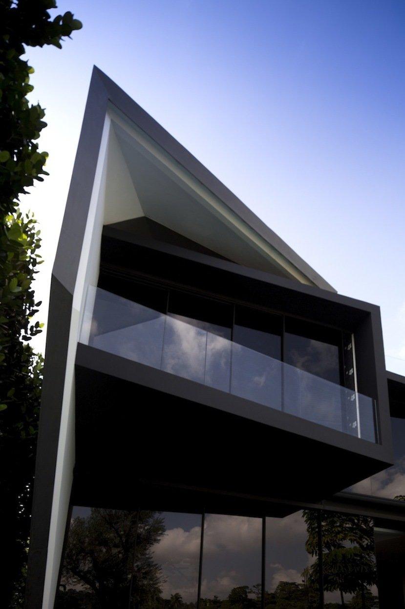 Glass Balustrading, Balcony, Lakeside Family Home in Singapore