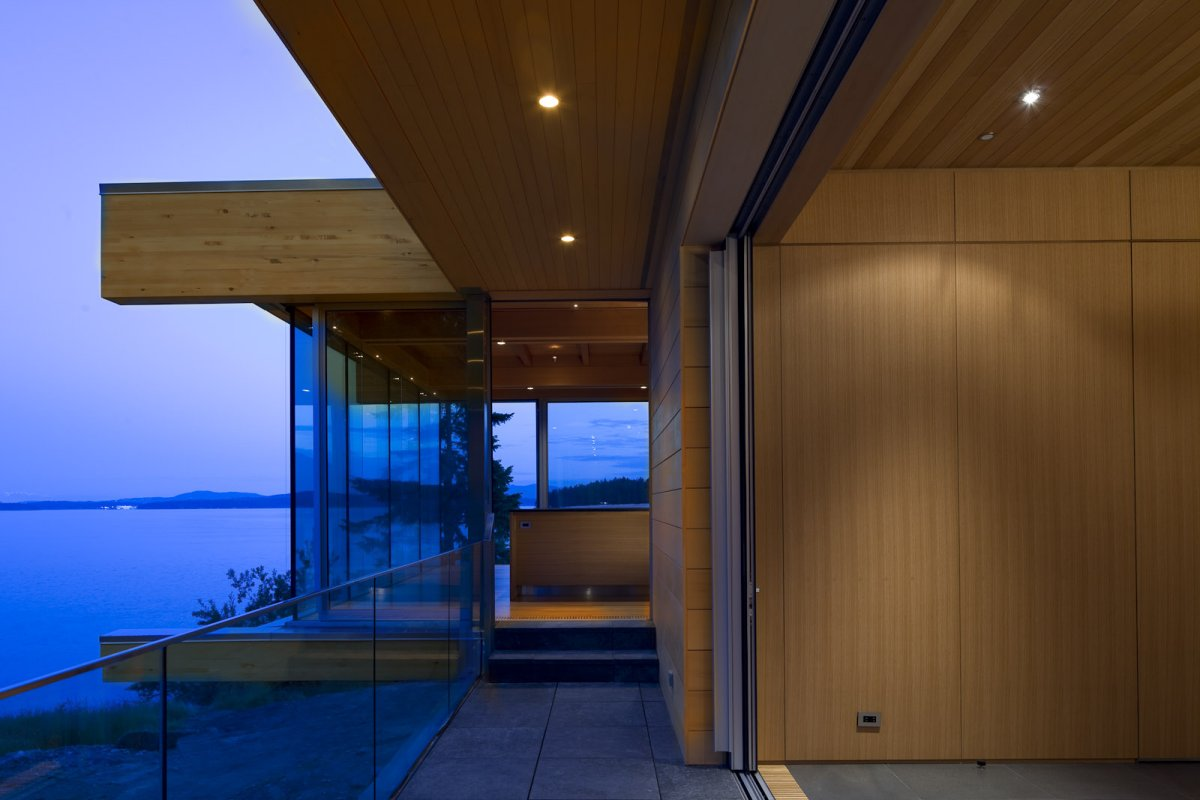Glass Balustrading, Ocean Views, Oceanfront Home in British Columbia, Canada
