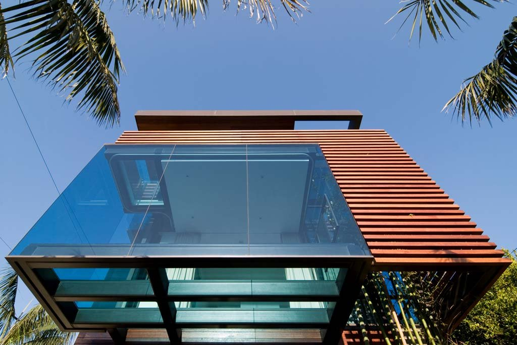 Glass Floor, Exceptional Glass & Wood Home in Los Angeles, California