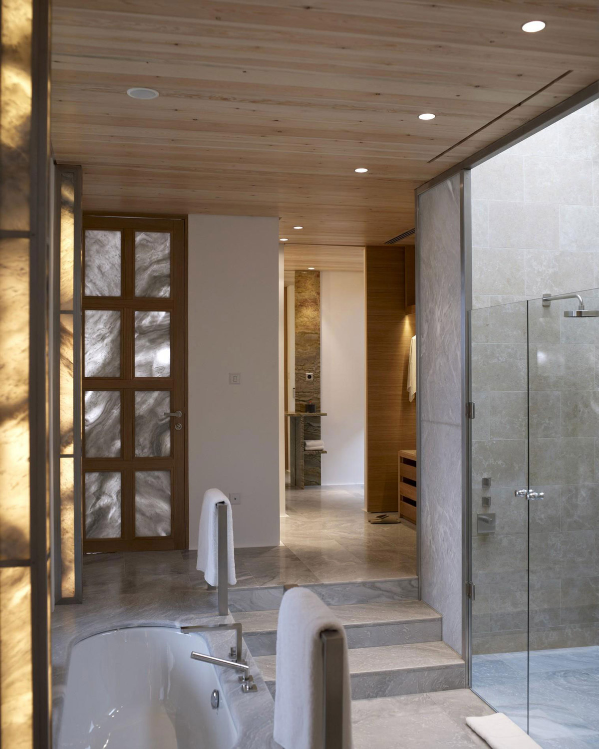 Glass Shower, Bathroom, Elegant Villas in Kranidi, Greece