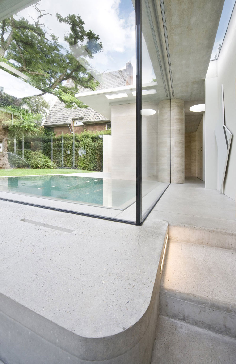 Glass Walls, Pool, Extension and Renovation in Eindhoven, The Netherlands