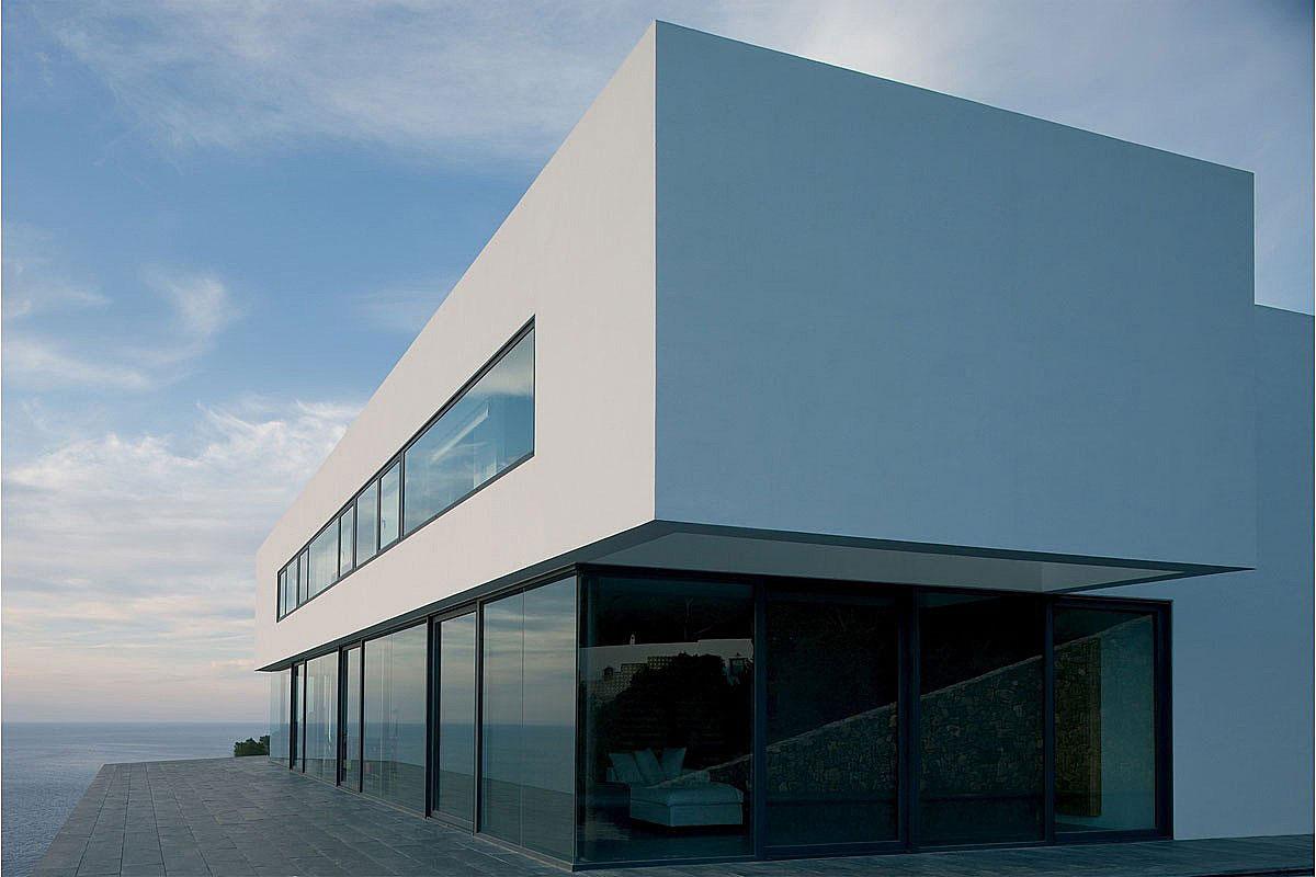 Glass Walls, Terrace, Stunning Clifftop Home in Ibiza, Spain
