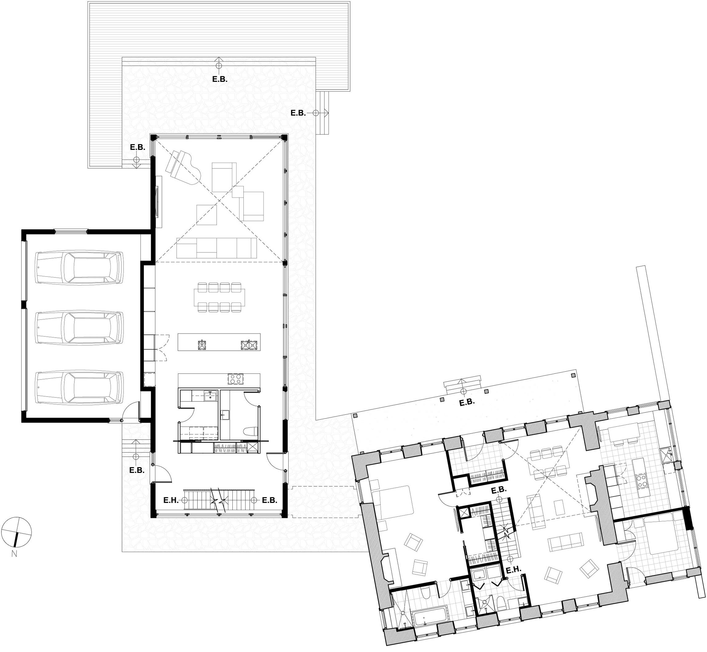 Ground Floor Plan, Renovation and Addition in Dorval, Canada