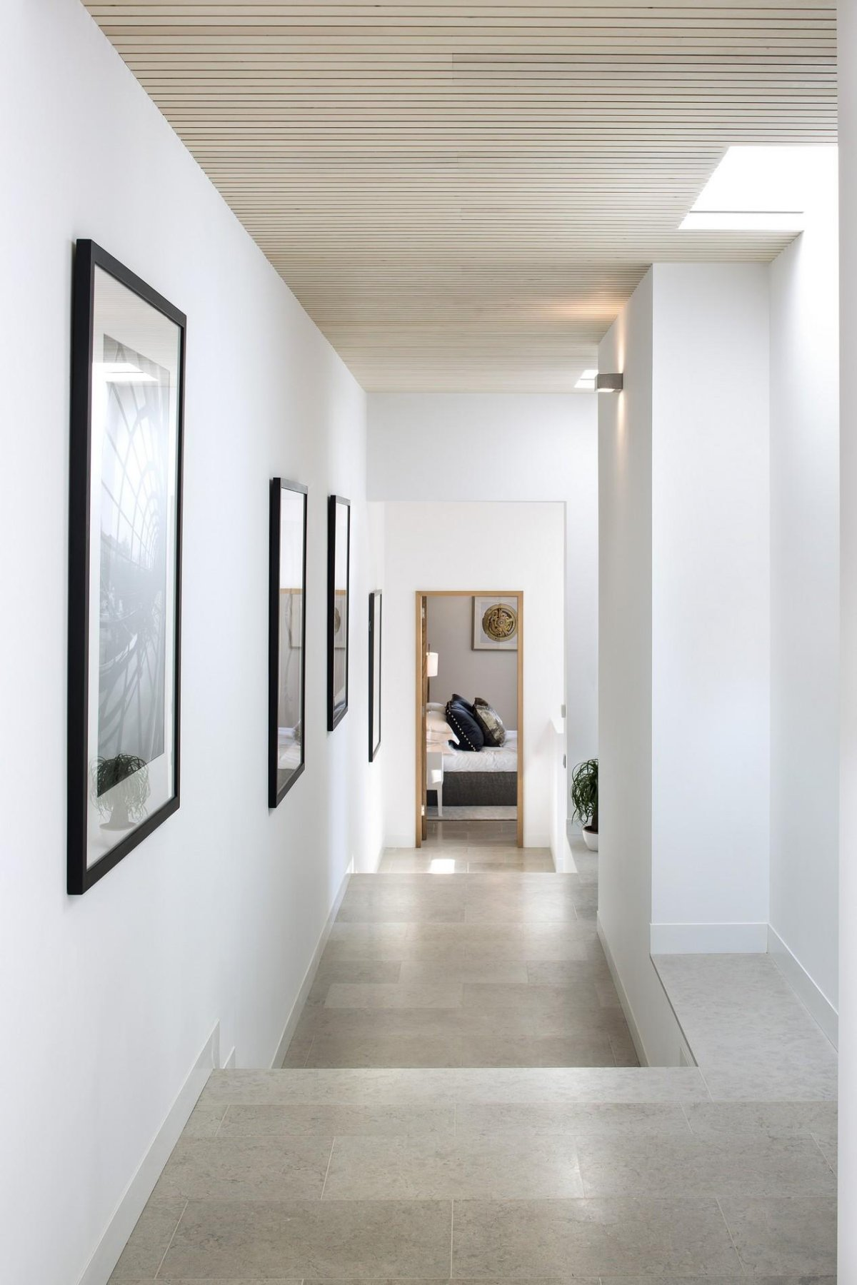 Hallway Marble Tiles Modern Home In Quinta Do Lago Portugal