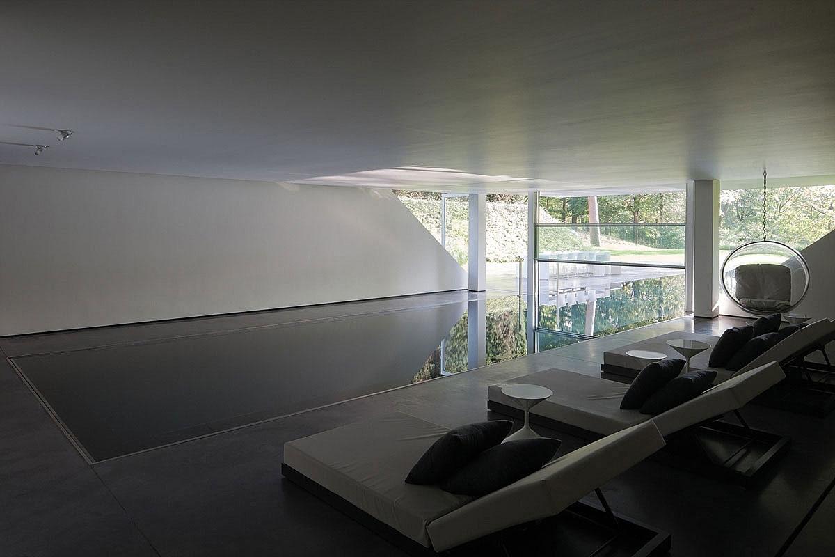 Indoor & Outdoor Pool, Sophisticated Glass Home in Belgium