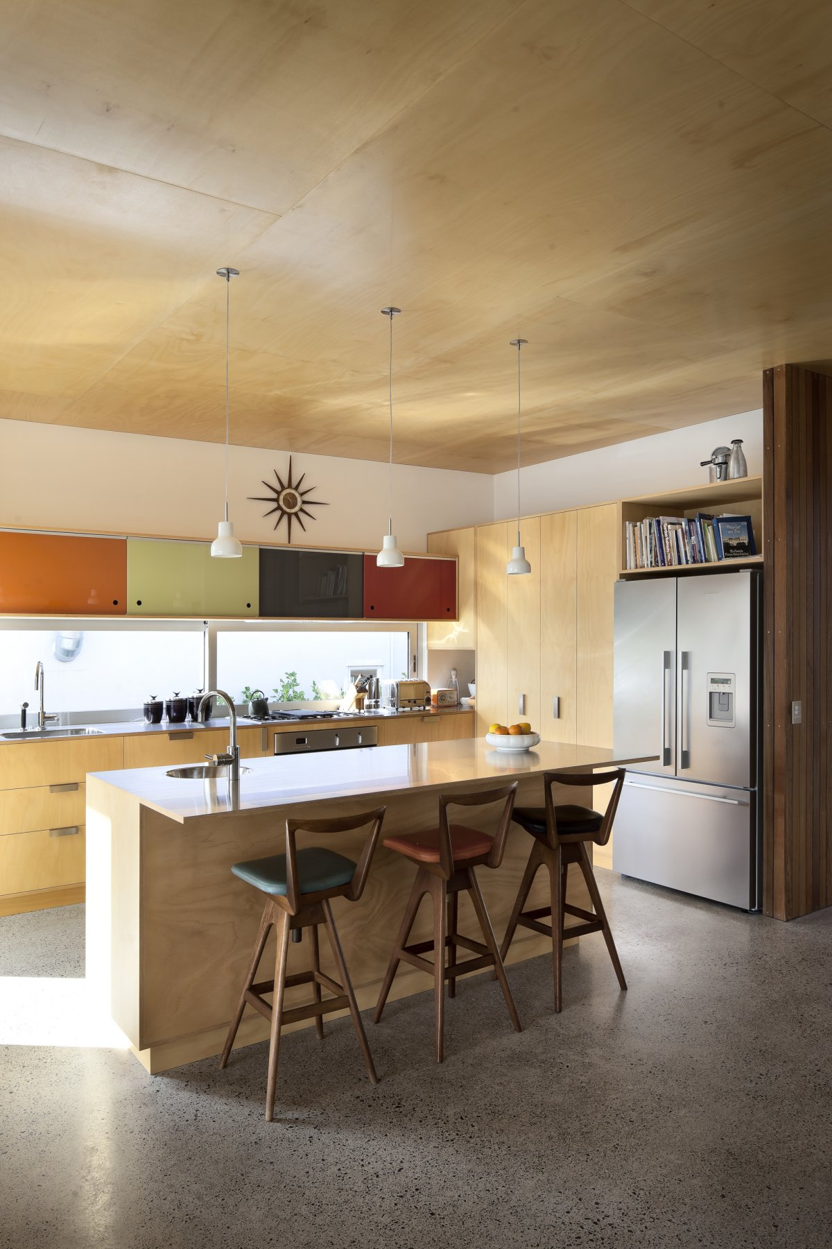 Breakfast Bar, Kitchen Island, 1950-60s Inspired Home in Auckland, New Zealand