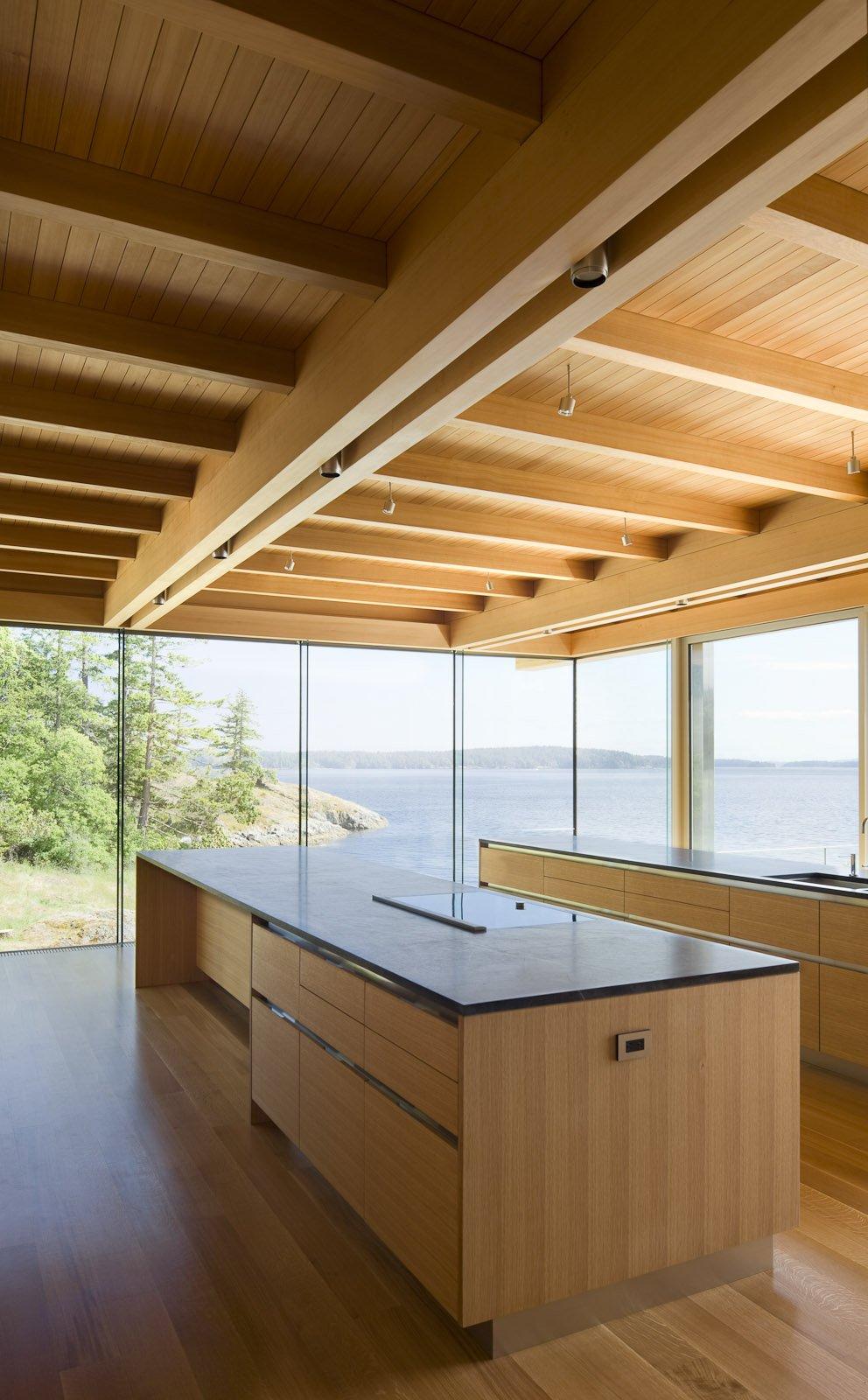 Kitchen Island, Ocean Views, Oceanfront Home in British Columbia, Canada