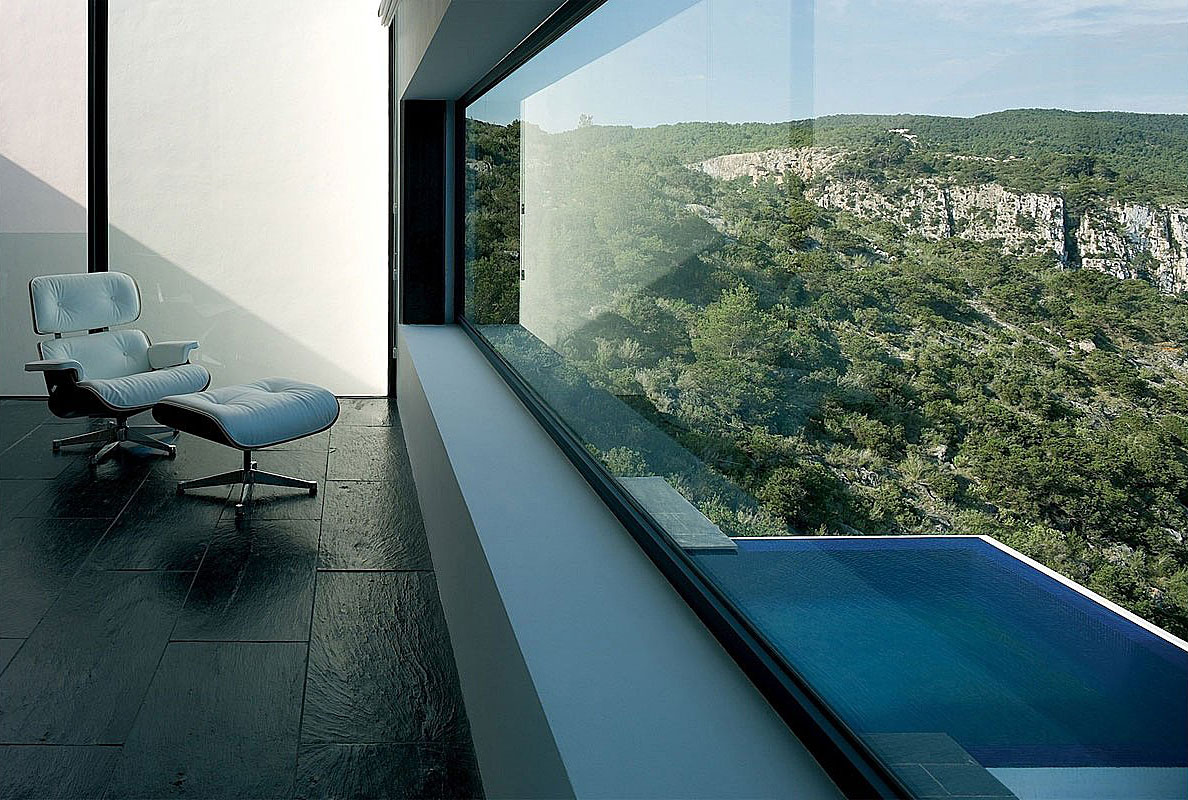 Large Window, Views, Stunning Clifftop Home in Ibiza, Spain