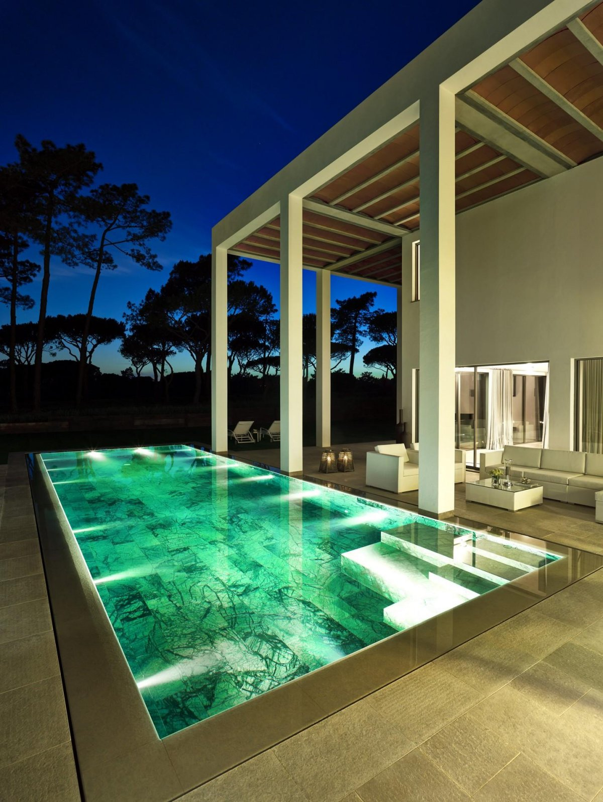 Marble Pool, Modern Home in Quinta do Lago, Portugal